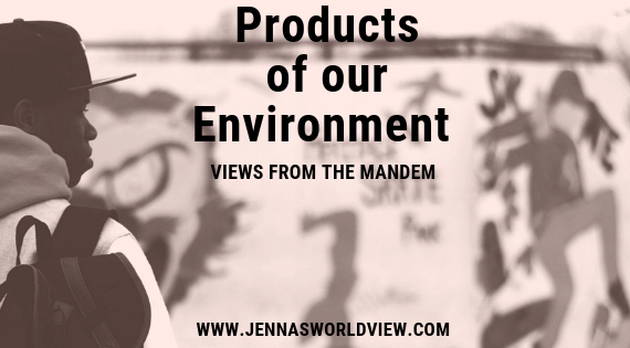 Part 5 - PRODUCTS OF OUR ENVIRONMENT - Views from the Mandem is a blog series that covers topics relevant to the Black male experience. Read more at Jennasworldview.com